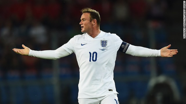 Wayne Rooney captained England in its 2-0 victory over Switzerland.