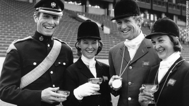 Her father Mark Phillips, left, was part of Britain's gold-medal-winning eventing team at the 1972 Munich Olympics, and he also won silver at Seoul '88.