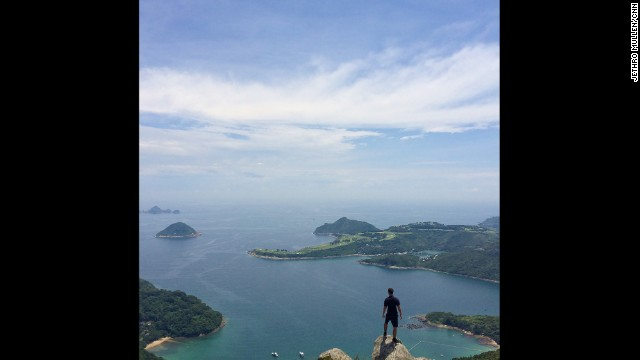 """HONG KONG: """"Assessing the clearness of the water... On a hike over High Junk Peak above Clearwater Bay in eastern Hong Kong."""" - CNN's Jethro Mullen, September 10. Follow Jethro (@jethromullen) and other CNNers along on Instagram at instagram.com/cnn."""