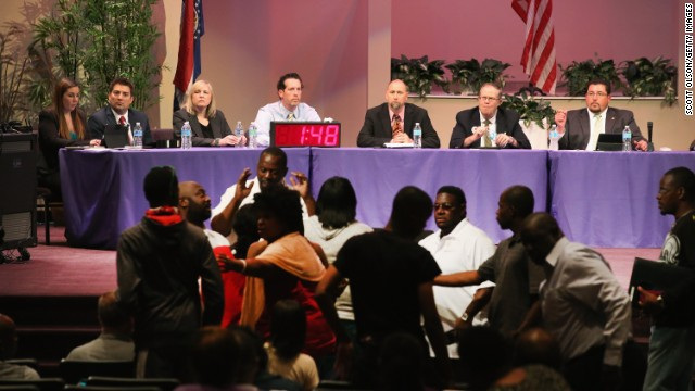 Photos: Ferguson council meeting