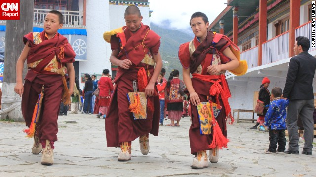 Every May during Vesak, a holiday that marks Buddha's birthday, Buddhists celebrate with prayers and other events, Uday Sripathi said. Young monks like those pictured here from the Tawang Monastery in Arunachal Pradesh, India, help in the festivities.