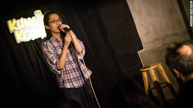 Shanghai comedian Leia Luo performs in English