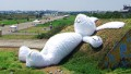 Giant rabbit hangs out in Taiwan