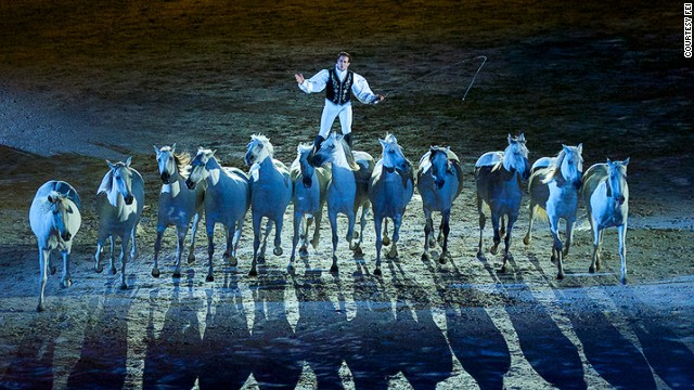 At first glance, it might appear to be a fantastical circus performance. In fact, this is the opening ceremony of the World Equestrian Games, which wrapped up this week.