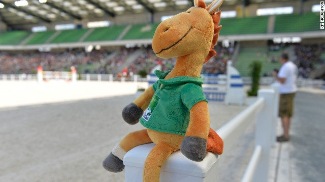While the horses and their riders battled it out in the arena, mascot Norman -- named after the French area of Normandy -- surveyed the action. By the end of the Games, the hugely popular plush toy had disappeared from shop shelves.