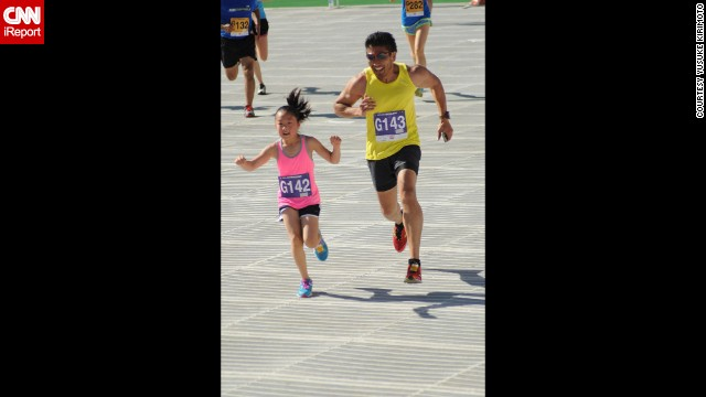 Kirimoto and his daughter, now 7, ran the famous Bolder Boulder 10K race together on Memorial Day. In July, Kirimoto weighed 168 pounds. He has dropped a total of 102 pounds.
