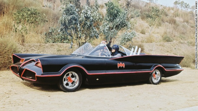 "In the '60s TV series ""Batman,"" Adam West cruised around in style with the wind in his cape. This early on-screen Batmobile was based on the Ford Motor Co.'s 1955 Lincoln Futura concept car."