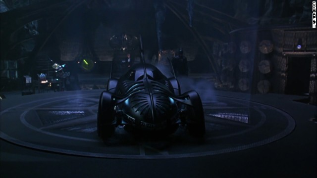 "1995's ""Batman Forever,"" starring Val Kilmer as the Caped Crusader instead of Michael Keaton, also gave the Batmobile another pass. It's details were more exaggerated, with a pointed nose and a design made to emulate ribs and wings."