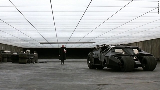 """The Tumbler returned in 2008's """"The Dark Knight"""" with an extra-cool feature: It housed a motorcycle."""