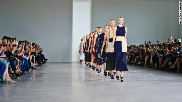 CNN Living was on the scene as designers showcased their spring 2015 collections at New York Fashion Week from September 4 to 11. Calvin Klein showed a collection of long, lean silhouettes on the last day of Fashion Week.