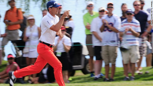 The American is a man in a hurry. He had to rush to the restroom at the end of last week's BMW Championship, which he won, and will fly home to Florida if his wife goes into labor during the Tour Championship in Atlanta.