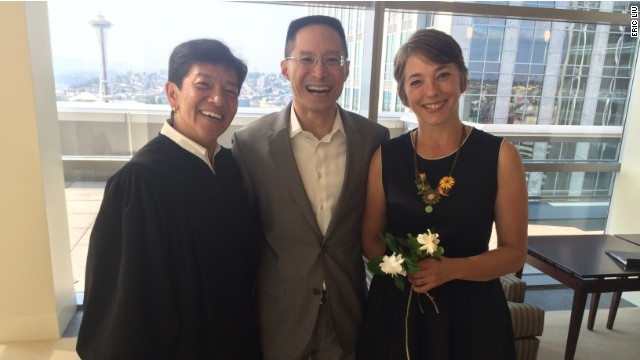 Justice Mary Yu, Eric Liu and Jená Cane