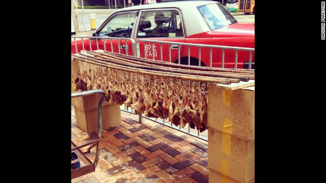 "HONG KONG: ""Hygiene be damned! Drumsticks drying on street."" - CNN's Madison Park, September 13. Follow Madison (@yippeyay2) and other CNNers along on Instagram at instagram.com/cnn."