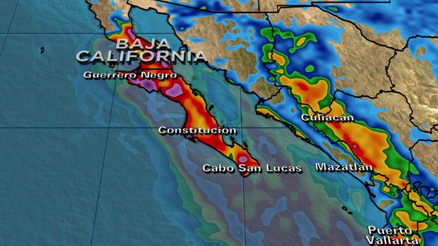 Alerta máxima en Baja California, México, por paso del huracán Odile