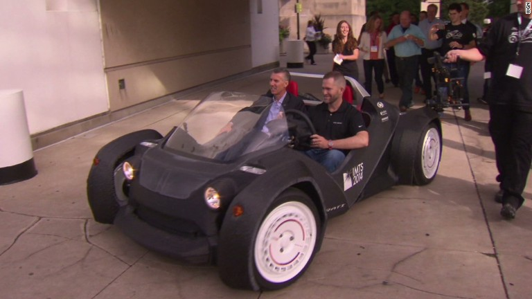 See the world's first 3D printed car