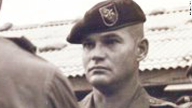 Army Command Sgt. Maj. Bennie G. Adkins is pictured in an undated U.S. Army photo. He is cited for his action at Camp A Shau in Vietnam in 1966, where the Army says he killed 135 to 175 enemy troops during a battle.