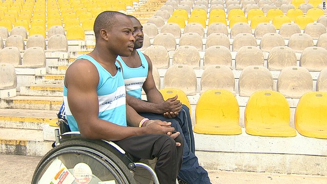 Raphael Botsyo Nkegbe and Maclean Atsu Dzidienyo are internationally recognized wheelchair racers. They're working with Right to Dream, an academy dedicated to nurturing the sporting ambitions of Ghana's disadvantaged children.
