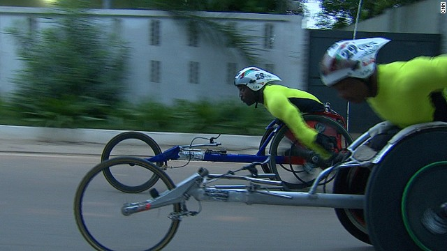 Currently, there aren't many facilities dedicated to Paralympic athletes in Ghana. Lacking a track to call their own, Nkegbe and Dzidienyo practice on the roads as early at 3am.