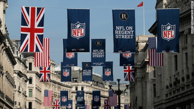 """The series also includes the """"NFL on Regent Street"""" event which last year attracted almost 600,000 people to London's famous road."""