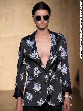 Nottingham-born Paul Smith kept to his <a href='http://www.cnn.com/2014/09/17/world/london-fashion-week-memorable-fashion/index.html?hpt=hp_c3'>British roots</a> with clean shapes.