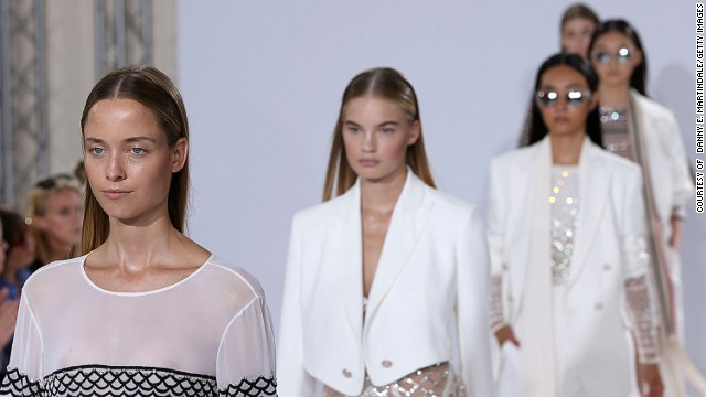Temperley London kept things ultra-sophisticated with stark-white materials.