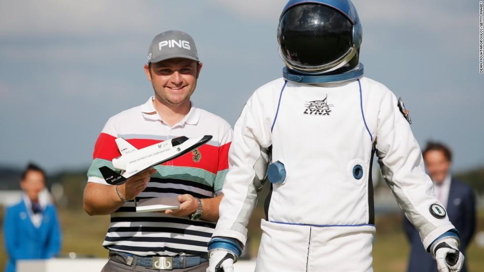 Golfista en misión espacial
