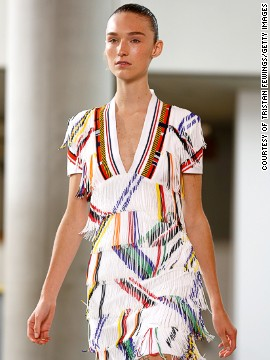 Preen showcased garments that epitomized sports-luxe.