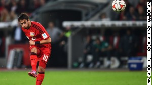 Hakan Çalhanoglu of Bayer Leverkusen has won rave reviews for his performances. The 20-year-old, who arrived from Hamburg during the offseason, is one of the most promising attacking midfielders in European football.