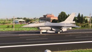 Taiwanese jets takeover freeway