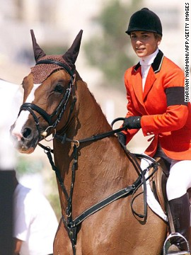 Haya competed for Jordan as a showjumper at the Sydney 2000 Olympic Games before her election as president of the FEI, world horse sport's governing body.