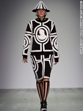 KTZ, a <a href='http://www.cnn.com/2014/09/17/world/london-fashion-week-memorable-fashion/index.html?hpt=hp_c3'>London-based</a> fashion label directed by Marjan Pejoski, is known for their raw energy and edginess.