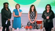 """The View"" returned to TV on Monday with a new set, two new faces and a pair of returning hosts who've spent their time away focusing on their health."