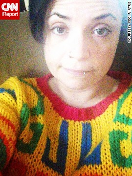 """<a href='http://instagram.com/p/sf4OlDrYiK' >Ceci Virtue </a>finds that her Cosby sweater is a source of comfort. """"Whenever I'm feeling miserable, I put on my favorite jumper,"""" she posted on Instagram. """"Everyone hates it, but I absolutely adore it!"""""""