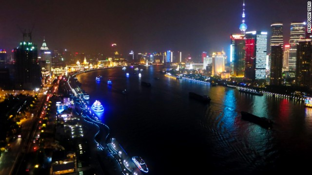 "The season four premiere of ""Anthony Bourdain: Parts Unknown"" takes viewers to the booming city of Shanghai, China, along the Huangpu River."