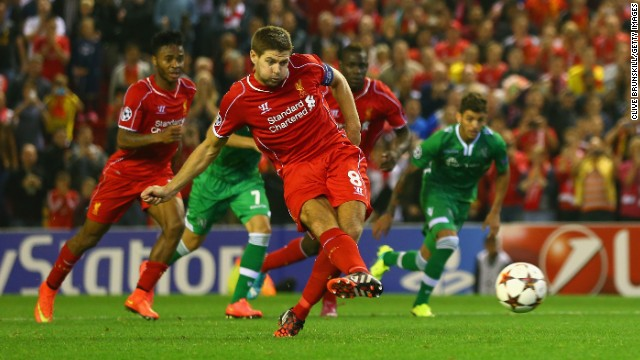 But after Dani Abalo had equalized for the visitors right on the 90-minute mark, Liverpool captain Steven Gerrard scored from the penalty spot deep in injury time to seal a 2-1 success.