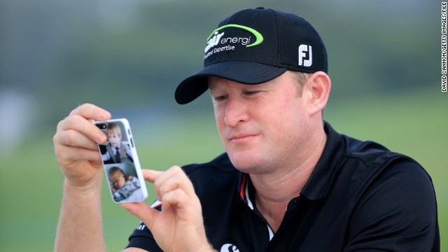 Welsh golfer Jamie Donaldson will play in his first Ryder Cup at Gleneagles. Like many of his European teammates, he often checks in on his mobile.