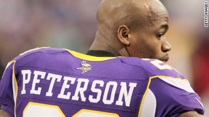 Vikings: Peterson won't play on Sunday