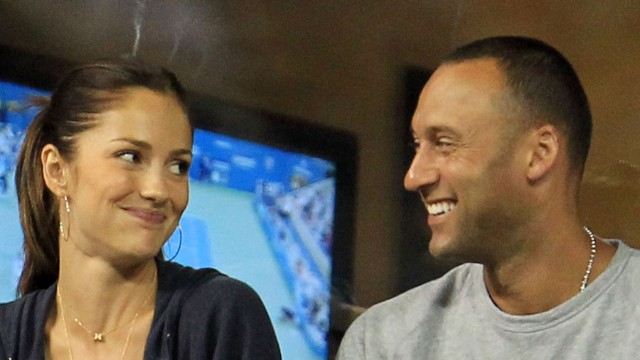 Jeter and actress Minka Kelly watch the U.S. Open in New York in September 2010. Throughout his career, Jeter has been linked to many famous women, including Kelly, singer Mariah Carey and actress Jessica Biel.
