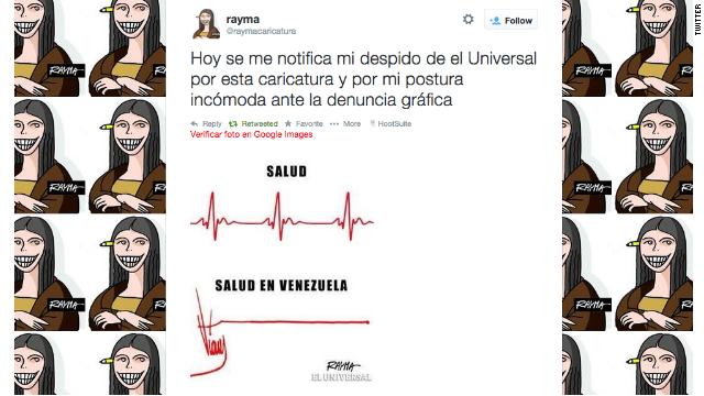 Caricaturista denuncia despido por una viñeta sobre la salud en Venezuela