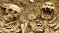 Skeletons found 'holding hands'