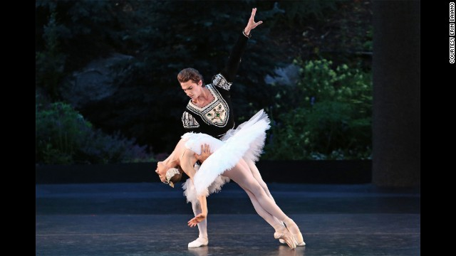 "Dancing with Zach Catazaro in ""Swan Lake"" at Vail International Dance festival"