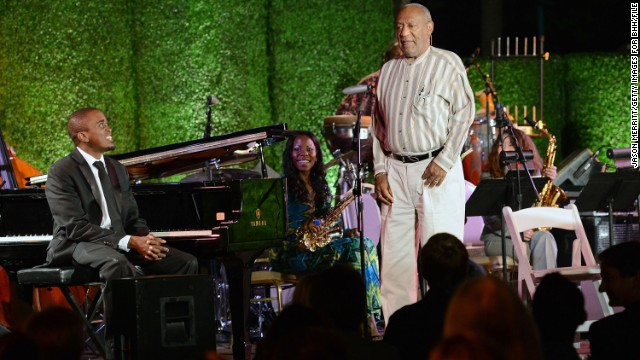 Cosby speaks onstage during the 100th anniversary celebration of the Beverly Hills Hotel & Bungalows supporting the Motion Picture & Television Fund and the American Comedy Fund. The comedian is active in several charitable causes.