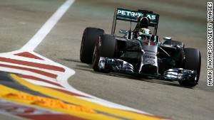 Spinning through F1's only night race