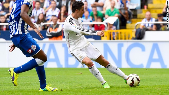 Ronaldo completed his hat-trick for 6-1, giving him five goals in three La Liga games this season.