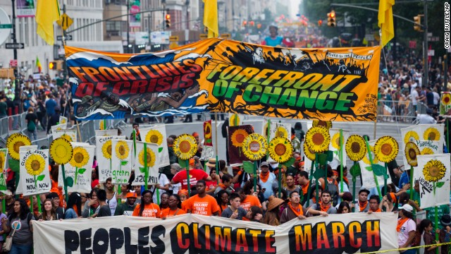 Massive Climate Change Rally In New York Attracts Thousands