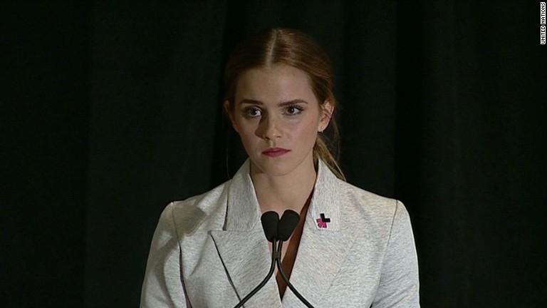 Emma Watson speaking to the UN
