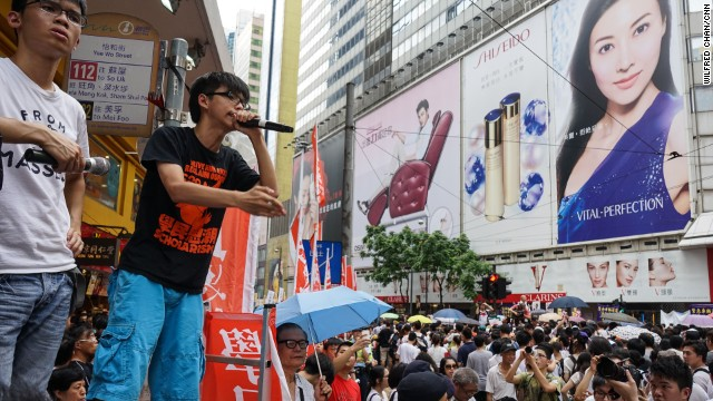 Now, Wong aims to ignite a wave of civil disobedience among Hong Kong's students to pressure China into giving the city full universal suffrage.