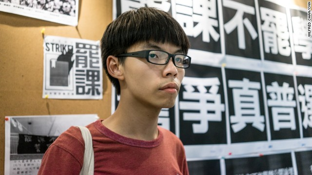 Joshua Wong, 17, is the founder of pro-democracy student group Scholarism. In 2012, he led as many as 120,000 people in a protest that overturned a pro-Communist school curriculum in Hong Kong.