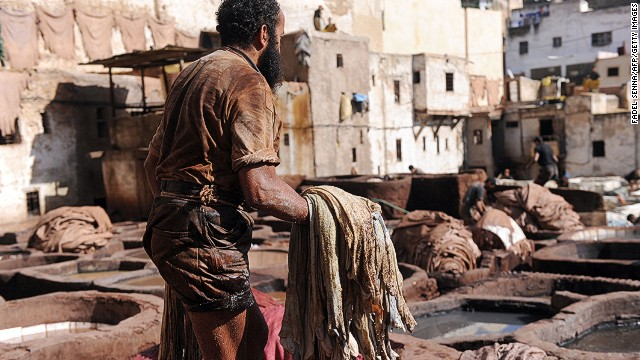 Artisans have been using the same methods to wash, tread and dye animal skins for thousands of years.