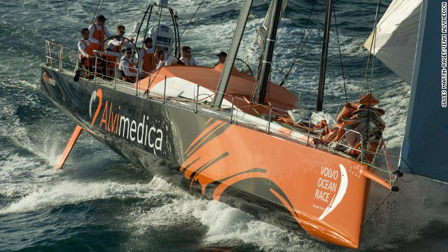 Team Alvimedica boasts a crew of eight, many of them inexperienced in the intricacies of round-the-world sailing.